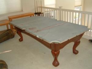 Proper pool table moving process in Yuba City California